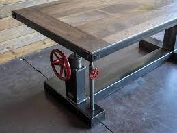 Metal Desk Vintage Crank Sit Stand Desk U2013 Vintage Industrial Furniture