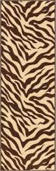 Rubber Backed Bathroom Rugs by Lyla Zebra Brown Beige Animal Print Stripes Modern Mat Non Slip