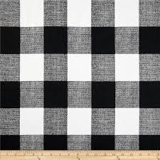 Upholstery Fabric Prints Premier Prints Anderson Check Black White Discount Designer