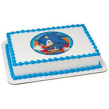 sonic cake topper sonic the hedgehog sonic boom licensed edible cake
