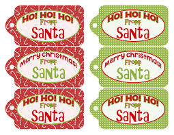 santa gift tags printable inkhappi