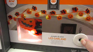Lighted Halloween Garland by Target Halloween Lights Youtube