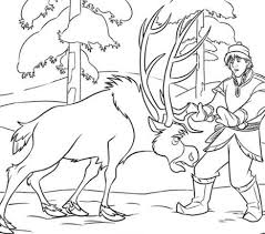 sven frozen coloring free coloring pages