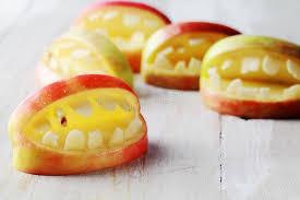creative homemade healthy snacks for halloween stock photo image