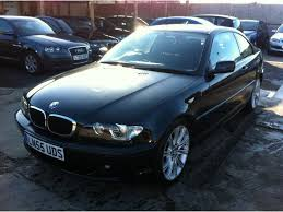 used bmw 3 series uk used black bmw 3 series 2005 diesel 320 cd se coupe excellent