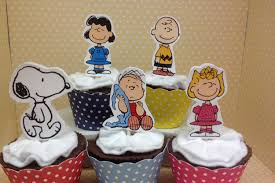 peanuts brown snoopy cupcake topper
