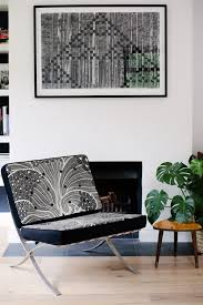 Barcelona Chair Interior One Of A Find Upholstered Barcelona Chair For Sale U2013 Leilester