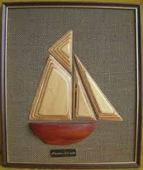 wooden boat wall vintage wall carved model wooden boat ship american offshore