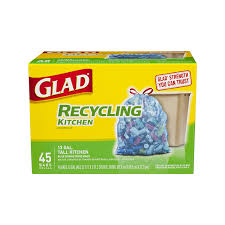 amazon com glad recycling tall kitchen drawstring trash bags
