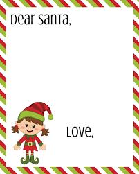 Printable Santa List Templates Free Dear Santa Printable Set