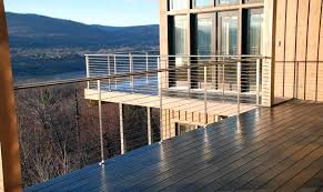 steel deck posts best metal deck railing ideas on deck railings