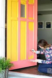 front doors home door bright front door red brick bright front
