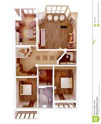 clear 3d apartment floor plan interior idea stock photos image