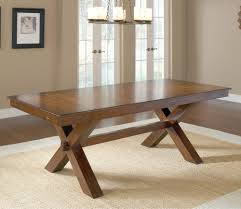 hillsdale park avenue trestle dining table w leaf in dark cherry