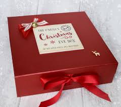 personalised christmas eve box u2013 large laura godbold design