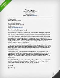 writing portfolio cover letter