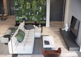 Open Plan Apartment by Apartment 13 Open Plan Living Room With Hanging Garden Bookshelf