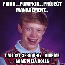 Project Management Meme - pmkn pumpkin project management i m lost seriously give