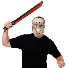 Jason Halloween Mask by Friday The 13th Jason Mask And Machete Costume Accessory Set