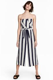 h m jumpsuit jumpsuit white striped h m