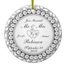just married ornaments keepsake ornaments zazzle