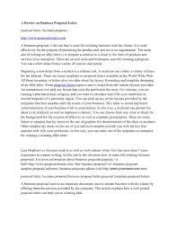 Sample Business Proposal Letter For Services by