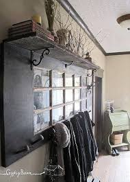 Salvaged French Doors - fun things to do with old doors coat racks doors and shelves