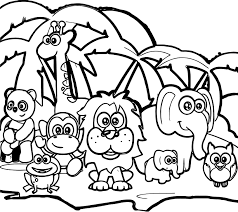 abc forest animal coloring page wecoloringpage