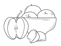 Plate Of Apples Coloring Page Free Printable Coloring Pages Plate Coloring Page