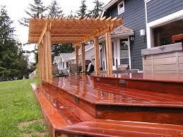 cedar creek lumber for a traditional deck with a western red cedar