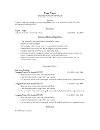 Jobs With No Resume by Basic Resumes Examples Resume For Your Job Application