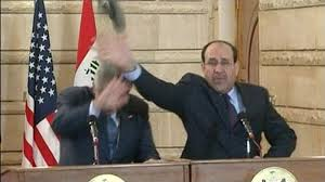 iraqi shoe toss know your meme