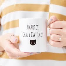 Crazy Mugs by Personalised Cat Lady Mug By Sophia Victoria Joy