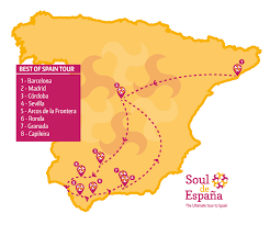Map Of Seville Spain by Best Of Spain Tour Soul De Espana