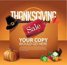 thanksgiving day sale shopping bag background stock vector image
