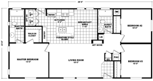 Double Wide Floor Plan | double wide mobile homes factory expo home center