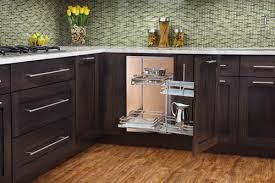 Blind Corner Storage Systems Glass Blind Corner Pullout Dreamline Cabinets