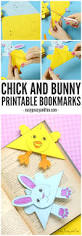 easter corner bookmarks bunny and template easy peasy