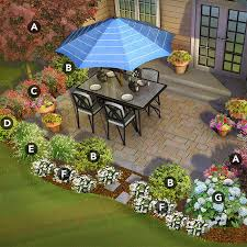 pacific patio garden landscaped with smokebush wintercreeper