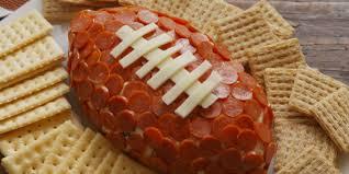 thanksgiving cheeseball pepperoni football recipe u2014delish com
