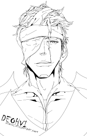 bleach 617 aizen u0027s return lineart by deohvi on deviantart