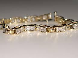 bracelet gold diamond tennis images Estate diamond tennis bracelet princess cut diamond 14k yellow jpg