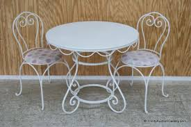 Iron Bistro Table Children U0027s Wood Top Iron Bistro Table U0026 Chair Set