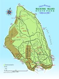 Detailed Map Of Michigan Mackinac Island State Park Mackinac State Historic Parks