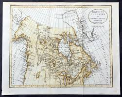 Northern Canada Map 1797 John Russell Old Antique Map Of The Great Lakes U0026 Canada