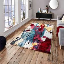 Jelly Bean Rug Multicoloured Buy Online Jelly Bean Teal Shaggy Rug Therugshopuk