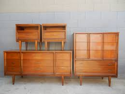 Mid Century Nightstands Mid Century Bedroom Set Dresser High Boy And Night Stands