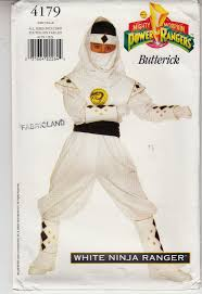 sewing pattern ninja costume white ninja power ranger costume butterick sew pattern 4179 uncut