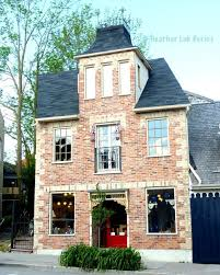 photography red brick house red door canada architecture
