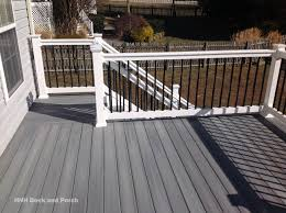 composite deck using fiberondecking castle grey decking with